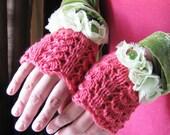 Petal Gloves - Pure Cashmere - Cabbage Rose
