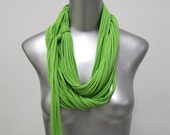 Infinity Scarf, Womens, Necklace, Scarves, Green Scarf, Green Infinity Scarf, Lime Green Scarf, Womens Lime Green Scarf, Lime Green, Gift