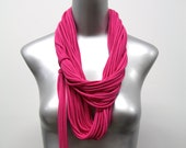 Scarves, Womens, Neon PInk Scarf, Hot Pink Infinity Scarf, Pink Scarves for Women, Pink Cotton Scarf, For Her, Fashion Scarves, Winter, Gift