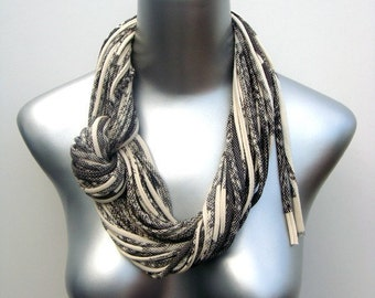 Christmas Gift, Gray Scarf, Gray Infinity Scarf, Gray Circle Scarf, Infinity Scarf, Circle Scarf, Womens Scarf, Cotton Scarf, Gift For Her