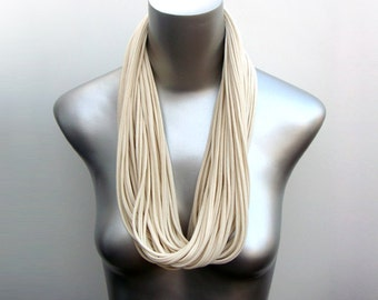 White Scarf, Cream Scarf, White Fall Scarf, White Winter Scarf, Cream Fall Scarf, Cream Winter Scarf, Cream Infinity Scarf, Cotton Scarf