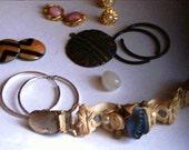 Destash Broken Jewelry Lot Wear Repair Supplies Earrings Garter