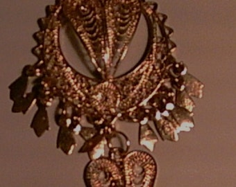Destash Huge Gold Earring  for Upcycle or Repurpose