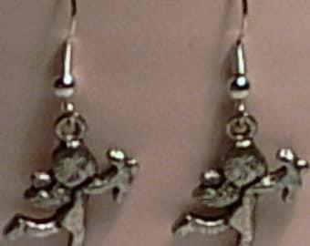 Silver Cupid Cherub Earrings