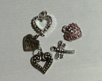 Destash Silver Hearts