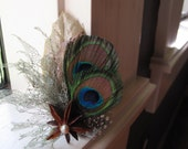 Reserved- 2 Natural Peacock Feather Bouts