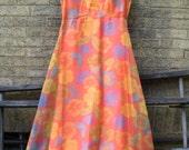 Ladies Vintage Hawaiian Style Long Dress  large size