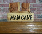 Man Cave sign shabby distressed rustic wood sign