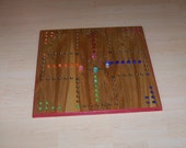 Zots Aggravation type game board w dice and marbles