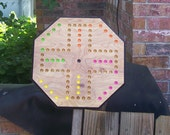 Aggravation game w marbles and dice sign d by craftsman