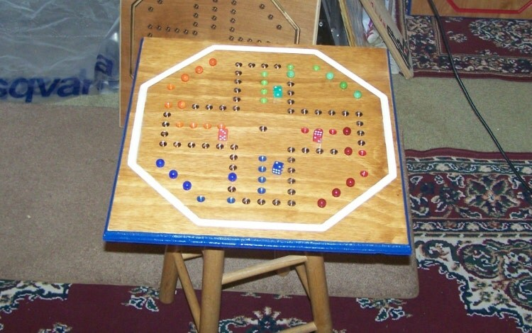 Classic Large Aggravation Game Board W Marbles And By