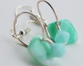 Mint Green Crystal earrings