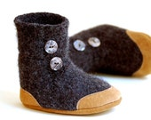 Baby Shoes, Wool Toddler Slippers, size 6-18 months, Tire Swings