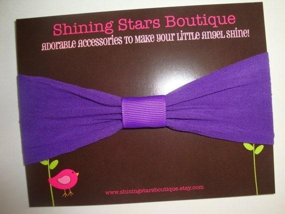 Baby Headbands - Infant Headband - Purple Interchangeable Nylon Headband