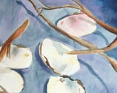 Shells and Sticks Abstracted Watercolor Still Life