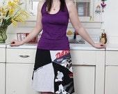 Recycled T-Shirt Skirt DARE