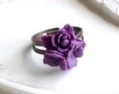 Flower Ring - Violet Bouquet