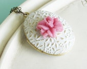Locket Necklace - Lily of the Valley