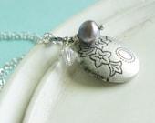 Silver Locket - Lilac Grove Locket Necklace
