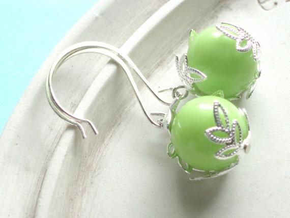 Key Lime Earrings - Silver