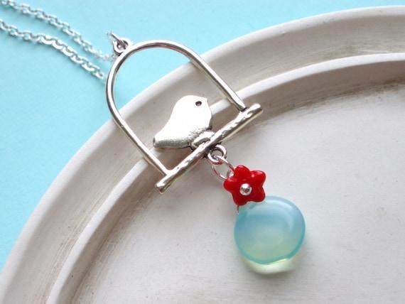 Silver Songbird Necklace