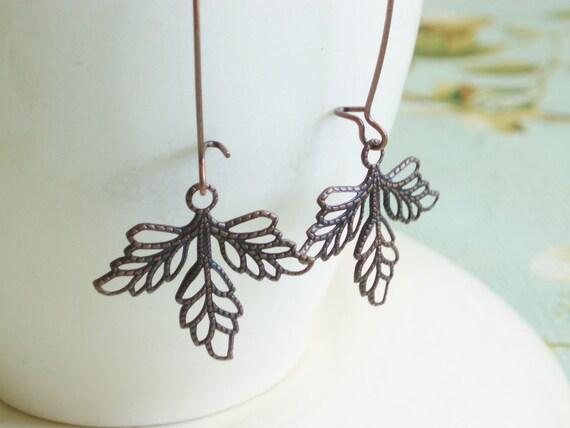 Lacy Leaf Earrings