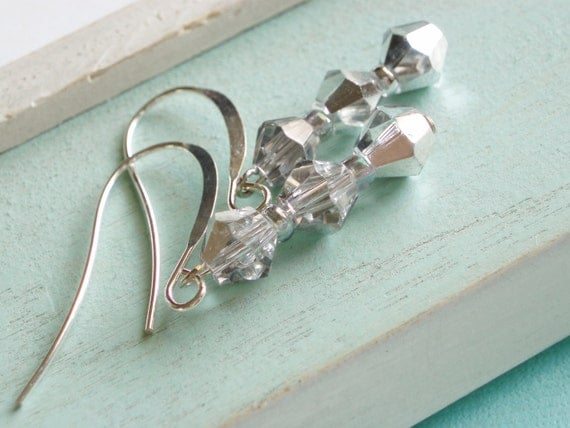Crystal Earings - Silver Glamour