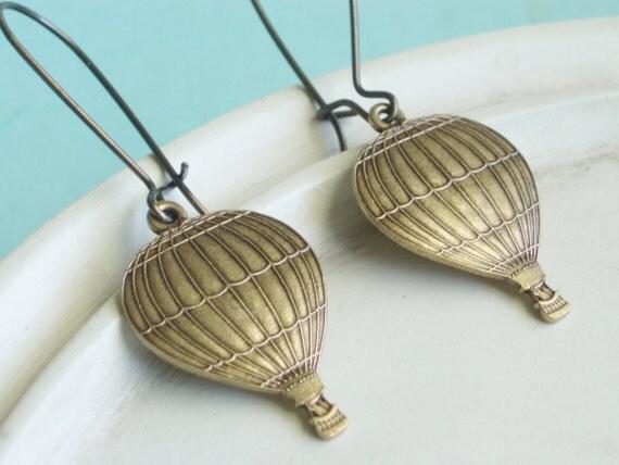 Beaded Charm Earrings - Hot Air Balloons