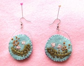 Jefferson-stitch earring