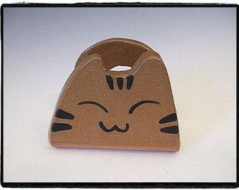 Super Cute Tabby Cat Business Card Holder by misunrie
