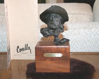 Rare SOUTHWESTERNER Cowboy Bronze Sculpture by Covelle Jones
