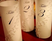 Hydrangea luminary table numbers for abadour
