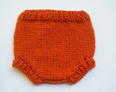 Diaper Cover, Custom Made Orange Diaper Cover  for Halloween  Baby and Newborn Photography Prop