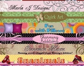NEW- Custom Etsy Banner and FREE Avatar -------- Make your shop POP with an original banner that will leave a lasting impression---and establish your brand on Etsy or at your personal website