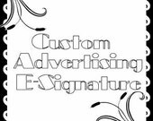 Custom Advertising Logo Digital Sticker Label Design  E-Signature Business Marketing