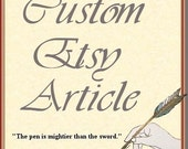 Custom Etsy Article - Written by a Professional Journalist