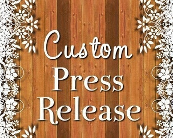 Press Release - Custom - Introduce your products to the WORLD