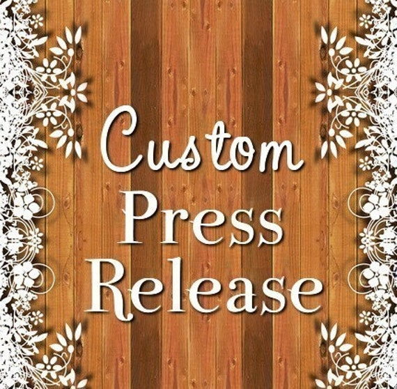 NEW - Custom Press Release - Introduce your products to the WORLD