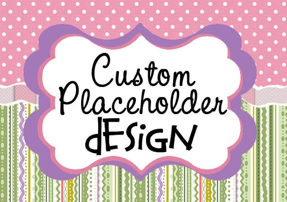 Custom Placeholder Reserved Listing Graphic -20% off