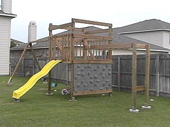 Plans for a diy kids play structure by woodwerx on etsy for Diy play structure