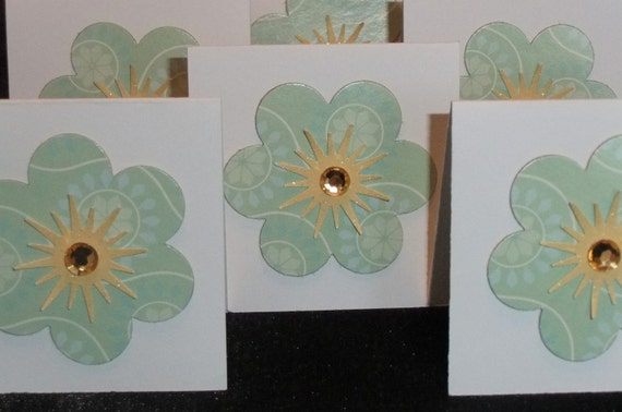 CLEARANCE Spring Flower Upcycled Note Gift Cards