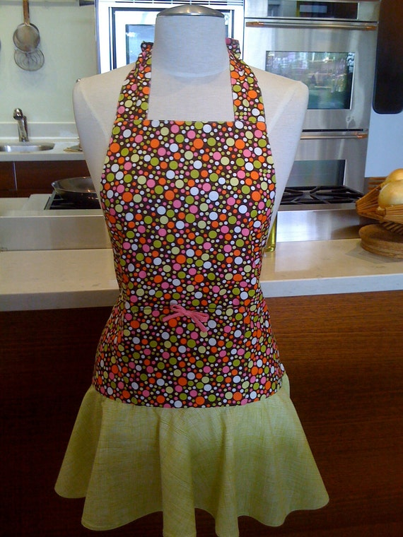Bubbly Halter Apron, with Flirty Skirt