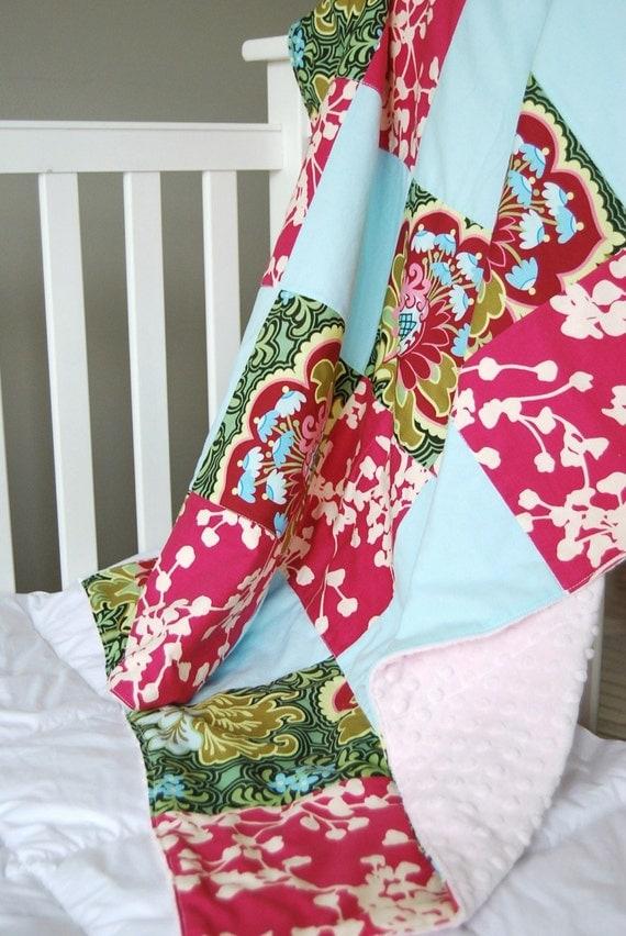BLANKET, Patchwork Design (You Choose Fabric)