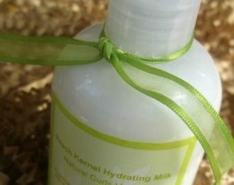 Peach Kernel Moisture Cream - Hair Milk- Curl Definer- Leave in Natural Hair Conditioner Treatment 16 oz.