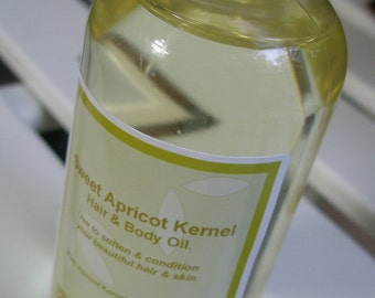 Sweet Apricot Kernel Hair and Body Oil 4 ozs