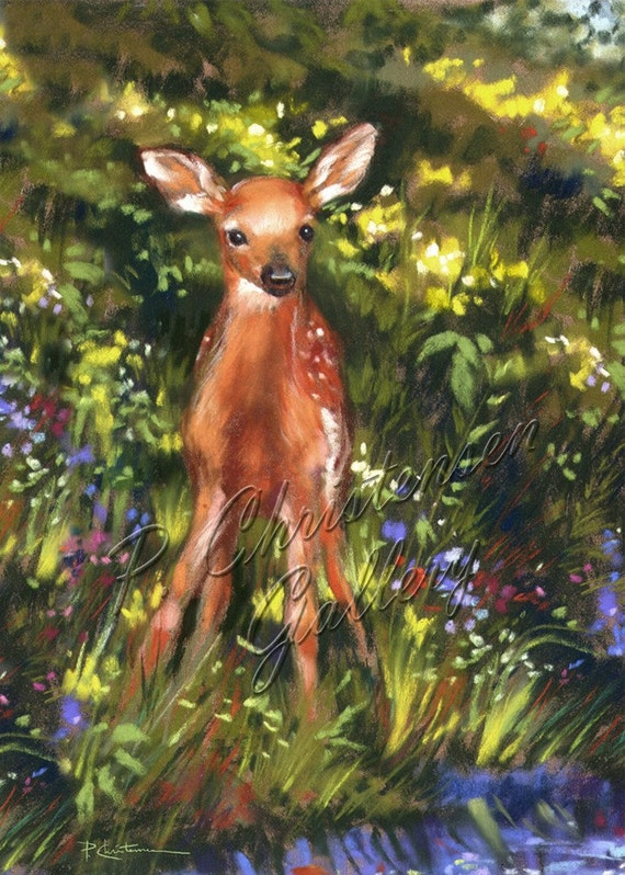 ACEO Spring Fawn - FREE Shipping
