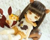 SALE- Lati Yellow-Pukifee - Special Theme SQUIRREL - ROMPER - Cream-GoldYellow - Limited