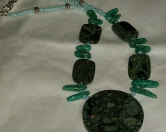 Mint Chocolate Chip Necklace and Pendant