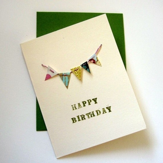 Items Similar To Mini Happy Birthday Banner Card On Etsy