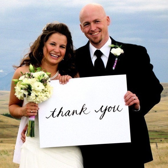 thank you AND just married wedding signs